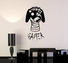vinyl decal gamer hand video game gaming decor boys room wall vinyl decal gamer hand video game gaming decor boys room wall stickers ig2756