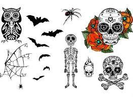skin skull cross bones skeleton temporary tattoos