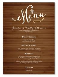 wedding menus and programs rustic wedding menus on 100 recycled paper bamboo board by