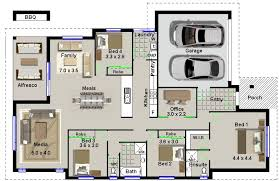 ranch house floor plans 4 alluring 4 bedroom house plans home