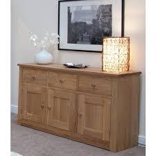 3 Door Sideboard Torino Solid Large Oak 3 Drawer 3 Door Sideboard Furniture4yourhome
