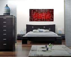 fice Art Red Burgundy Modern Abstract Painting Original