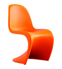 Orange Chair Verner Panton Panton Chair In Tangerine For The Home Pinterest