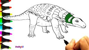 how to draw edmontonia dinosaur in jurassic world and edmontonia