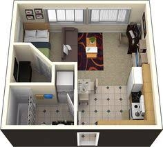 Studio Apartment Floor Plans Floor Plan For Studio Apartment Switch Bathroom U0026 Kitchen To Use