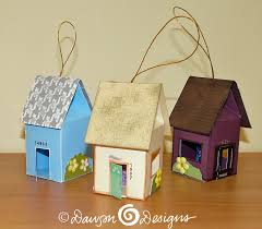 house shaped replica ornaments s designs cards
