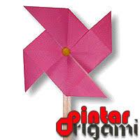 cara membuat origami kincir angin origami kincir angin cara membuat origami bunga binatang