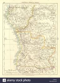 Angola Africa Map by Colonial Central Africa French Congo Free State Angola Johnston