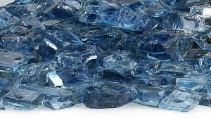 starfire glass 10 pound fire glass 12 inch pacific blue reflective