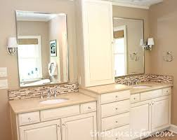Bathroom Vanity Custom Updating A Vanity With A Custom Tile Backsplash The Kim Six Fix