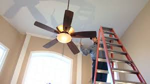 How To Change A Ceiling Fan by How To Install A Ceiling Fan U2013 Monkeysee Videos