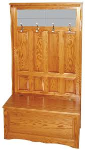 amish furniture oak or brown maple toy storage and hall seating