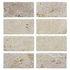 Travertine Tile For Backsplash In Kitchen Travertine Tile Natural Stone Tile The Home Depot