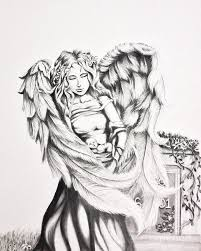 guardian angel drawing by shayla tansey