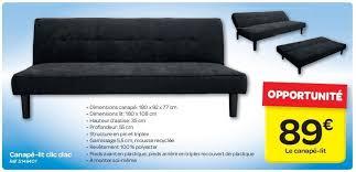 carrefour canapé carrefour promotion canapé lit clic clac produit maison