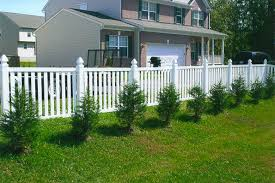 the new white picket fence vinyl fence