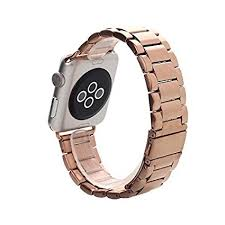 rose stainless steel bracelet images Apple watch band pandawell trade rose gold stainless jpg