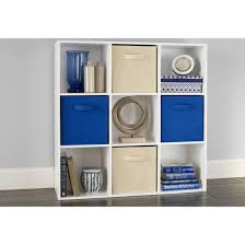 room organizer closetmaid cubeicals 9 cube organizer white walmart
