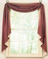 Country Porch Curtains Fishtail Curtain Swags