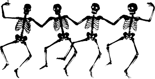 dancing skeletons black clipart library free clipart images