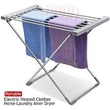 Electric Clothes Dryer Rack Homcom Folding Electric Clothing Dryer Free Standing Clothes Towel