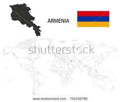 armenia on world map free armenia map vector free vector stock graphics