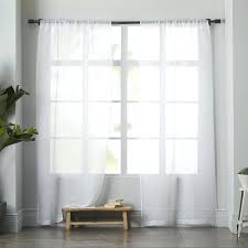 Linen Curtains Ikea White Linen Curtains Modern Linen White Sheer Curtain With Striped