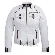white motorcycle jacket harley davidson motorcycle cottonwood women white jacket biker jackets