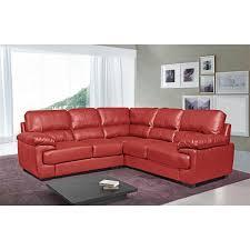 Seat Large Vibrant Red Leather Corner Sofa - Chelsea leather sofa