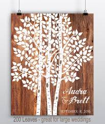 guest sign in books custom wedding sign wedding tree print wedding