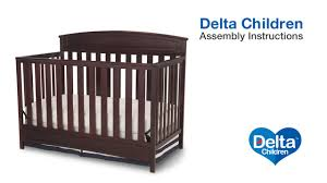Graco Charleston 4 In 1 Convertible Crib by Delta Children Sutton 4 In 1 Crib Assembly Video Youtube