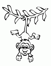cute baby monkey coloring pages coloring pages of baby monkeys