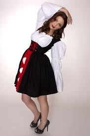 queen of hearts dress alice in wonderland halloween costume red