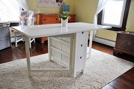Gateleg Table Ikea Ikea Norden Fold Down Table W Drawers Sew Many Ways Sew Sew