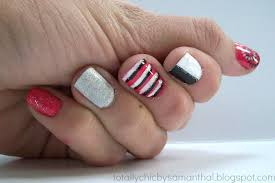 white tips with black silver and pink design nails house