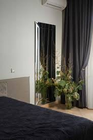 apartments black bedding and black curtain for modern bedroom in