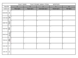 lesson plan template pre k u0026 elementary free lesson plan