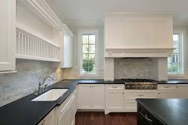 White Kitchen Cabinets And Black Countertops White Kitchen With Black Countertops Morespoons 10ed4fa18d65