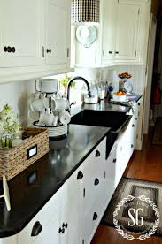 Kitchen White Cabinets Best 25 Black Counters Ideas Only On Pinterest Dark Countertops