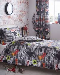 personalised graffiti wall art sticker amazon kitchen kidz club teenagers double bed duvet cover and pillowcase bedding set cool skateboards