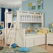 White Bunk Bed With Stairs Twin Over Full Bunk Bed With Stairs White Wooden Global
