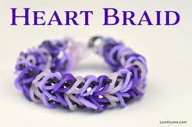 love braid bracelet images How to make a rainbow loom heart braid bracelet jpg