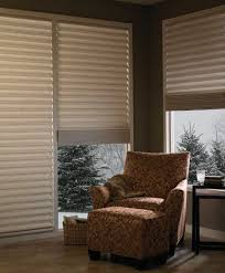 vignette tiered architella modern roman shades with easyrise