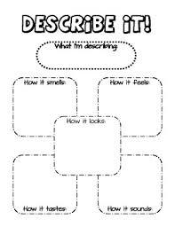 describe it describe it five senses graphic organizer by mrs herrick tpt
