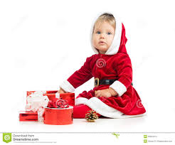 christmas baby with gift box stock images image 33634474