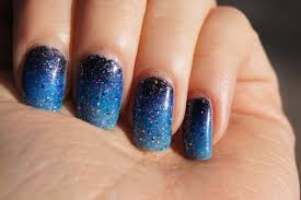 blue nail polish design how you can do it at home pictures