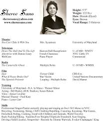 exles of actors resumes great professional singer resume sle photos exle resume