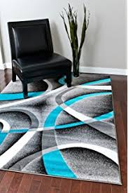 Area Rugs With Turquoise And Brown 0327 Turquoise White Gray Black 5 2x7 2 Area Rug