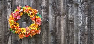 decorate outdoors with a fall wreath bombay outdoors