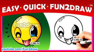 how to draw an emoji easy cute fun2draw youtube